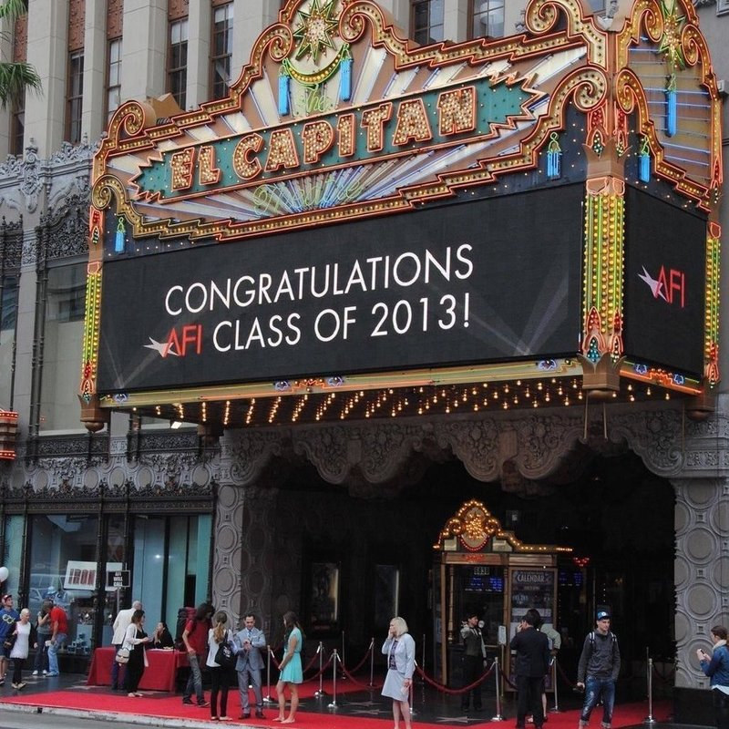 AFI Commencement at El Capitan Theater Hollywood